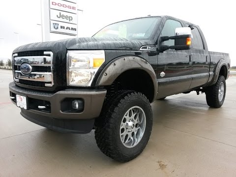 Tricked Out Lifted New 2016 Ford F250 King Ranch Fx4 Off Road Truck