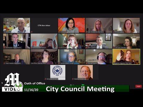 Ann Arbor City Council - Nov. 16, 2020