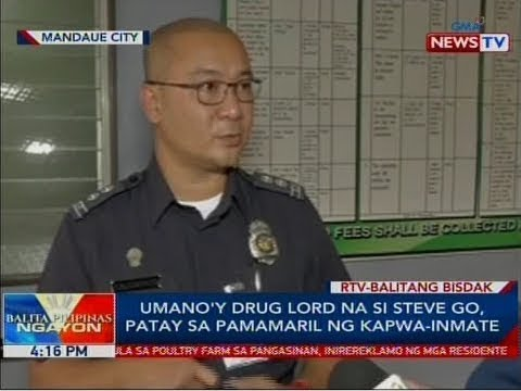 BP: Umano'y drug lord na si Steve Go, patay sa pamamaril ng kapwa-inmate