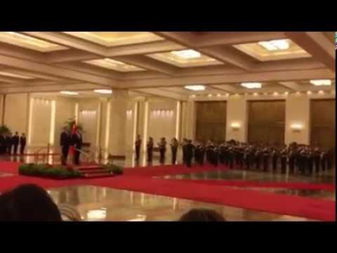 Uroczyste przywitanie prezydenta Andrzeja Dudy w Chinach