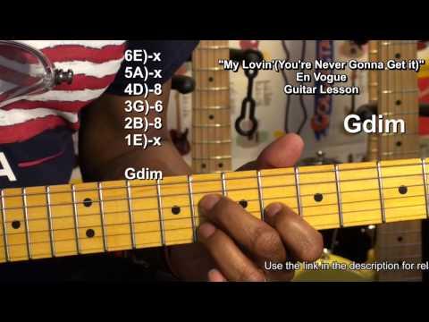 My Lovin' (You're Never Gonna Get It) R&B Guitar Lesson FunkGuitarGuru Funky USA