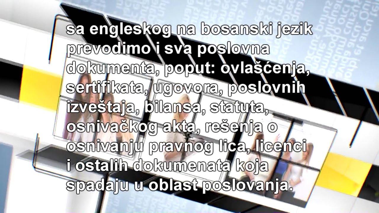 Prevod Sa Engleskog Na Bosanski Jezik