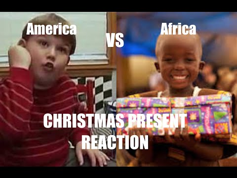 American kids Vs African kids GETTING PRESENTS REACTION