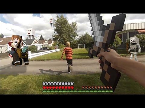 МАЙНКРАФТ В РЕАЛЬНОЙ ЖИЗНИ ГОЛОДНЫЕ ИГРЫ/Minecraft In Real Life