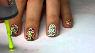 Неоновый стемпинг для ногтей