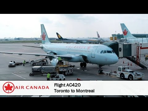 Images of air canada flight to toronto from montreal