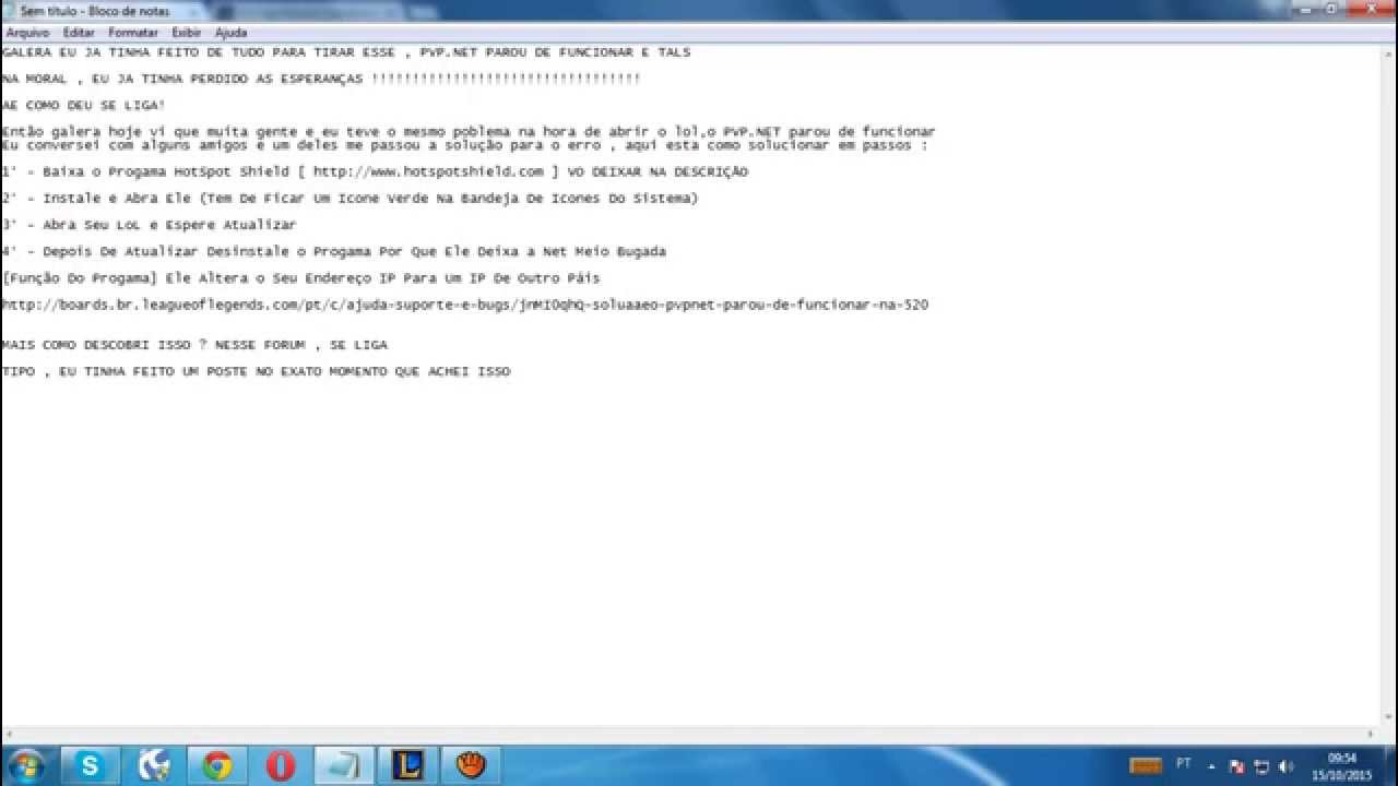 lol pvp.net patcher kernel parou de funcionar