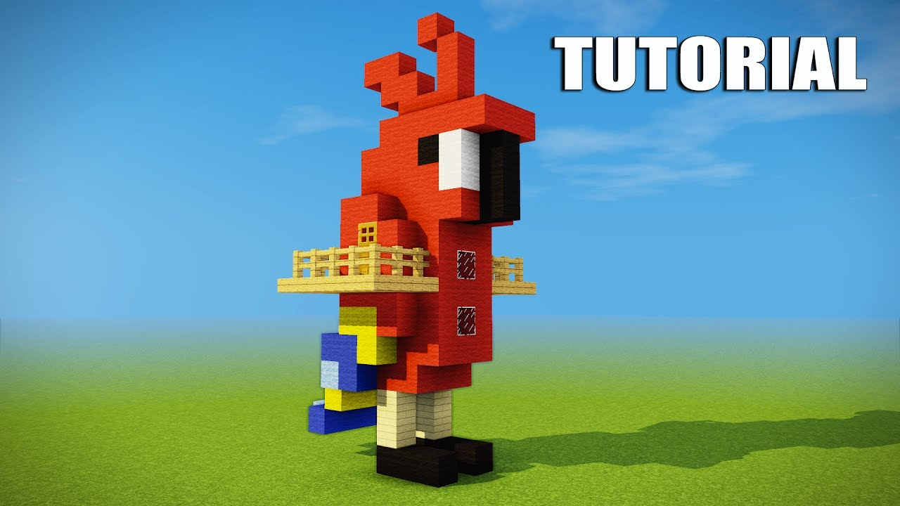 Minecraft Tutorial: How to make a Parrot house - Cool ...