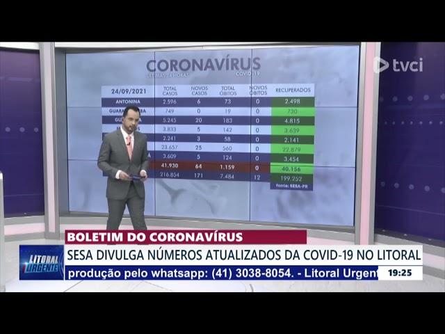 BOLETIM DO CORONAVÍRUS - 24/09/2021
