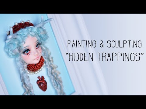 Making a Deer Girl - Painting a resin doll sculpture