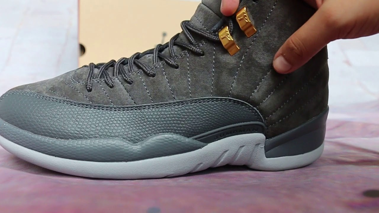 250785ec086817 Air Jordan 12 Grey Suede HD Review - YouTube