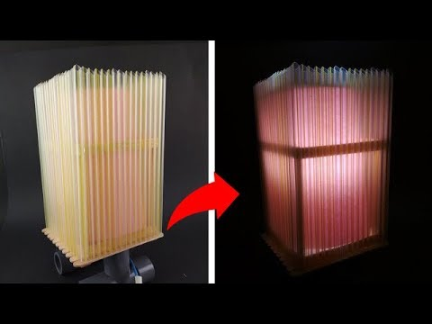 Cara Membuat Lampu Tidur Unik Dari Sedotan Youtube
