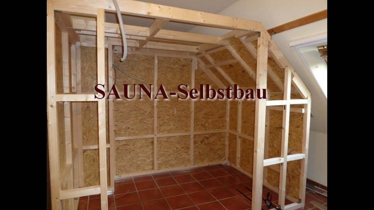 sauna selbstbau. Black Bedroom Furniture Sets. Home Design Ideas