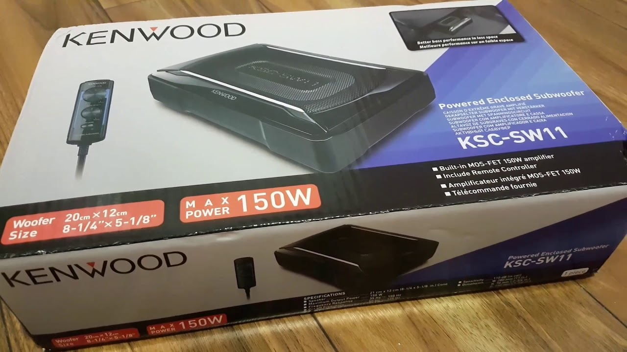 kenwood ksc sw11 unboxing powered subwoofer youtube. Black Bedroom Furniture Sets. Home Design Ideas
