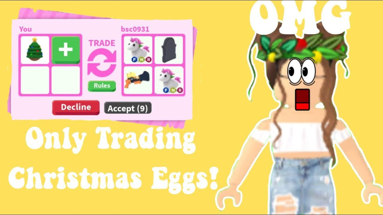 I ONLY TRADED CHRISTMAS EGGS IN ADOPT ME 😱😱😱 - YouTube