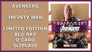 AVENGERS - INFINITY WAR - LIMITED BLU-RAY O-CARD SLIPCASE UNBOXING