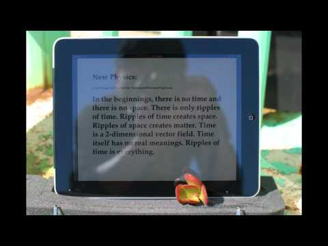 iPad As E-reader Under Direct Sunlight (available in HD)