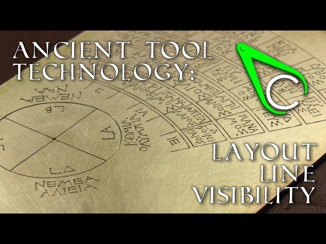 Antikythera Fragment #8 - Layout Line Visibility