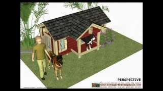 Dh302 - Insulated Dog House Plans - Insulated Dog House Design