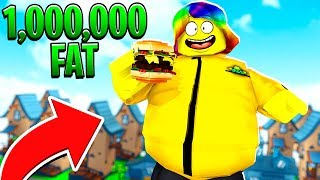 BECOMING THE FATTEST MAN dans le MONDE. (Roblox)