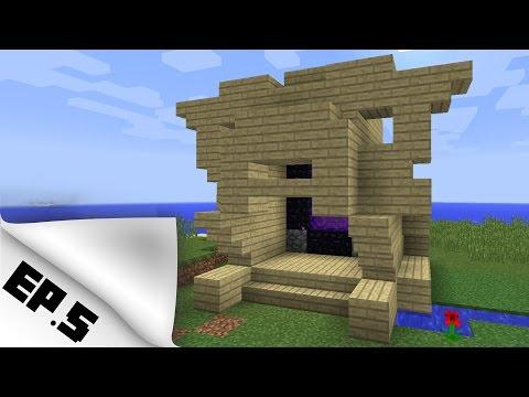 Let's Play Minecraft - ทำประตู Nether โดยไม่ใช้ที่ขุดเพชร EP.5