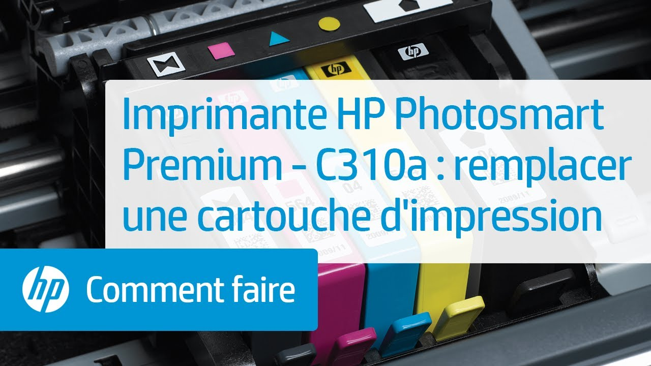 imprimante e tout en un hp photosmart premium c310a remplacer une cartouche d 39 impression. Black Bedroom Furniture Sets. Home Design Ideas