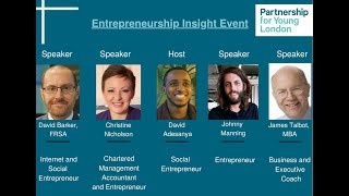 Entrepreneurship Insight Event - Partnership for Young London
