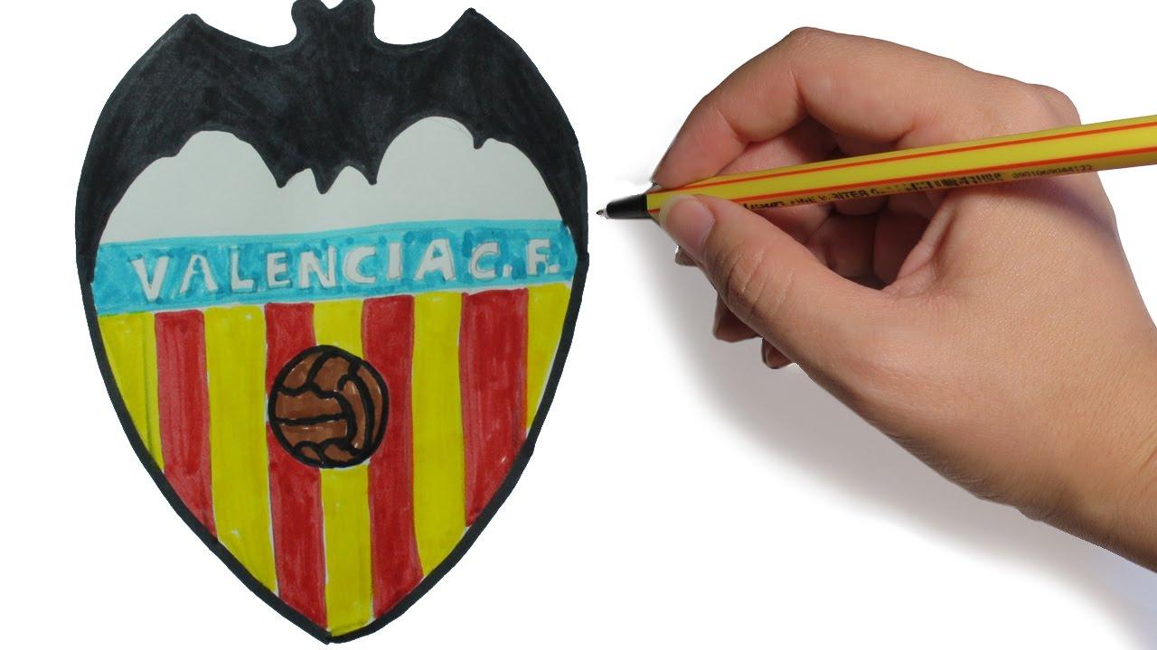 Como Dibujar El Escudo Del Valencia Facil Paso A Paso Youtube