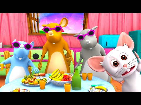 Three Blind Mice | Number Song | Baby Nursery Rhymes Songs & Kids Song Collection | Little Treehouse