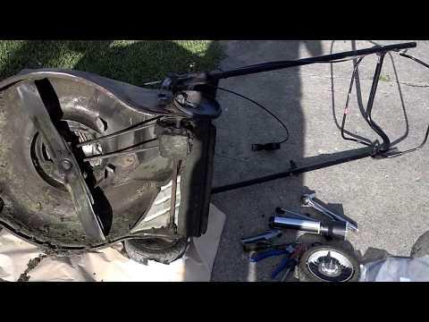 Honda Quadra Cut (HRR216SDA) Repair on drive clutch cable & yard update.