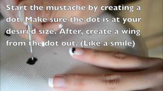 Mustache nail tutorial Thumbnail