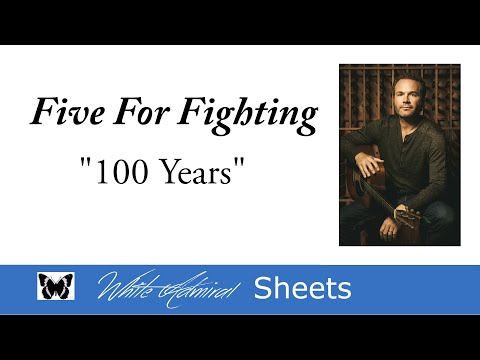 100 years  Five For Fighting  Piano