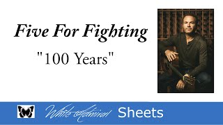 100 years - Five For Fighting - Piano