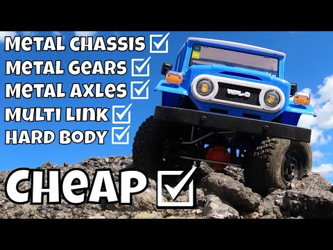 Full Metal Chassis, Hard body RC FJ40 less than $100! New WPL C34 KM Review. Cheapest Crawler!