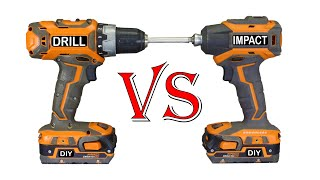 DRILL VS. IMPACT DRIVER - What's The Difference? Which is Better?