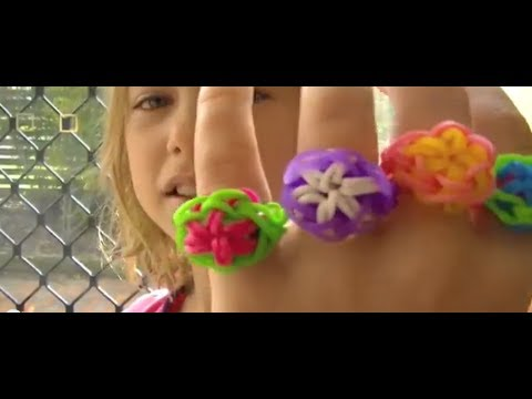 how to make a rainbow loom starburst ring youtube