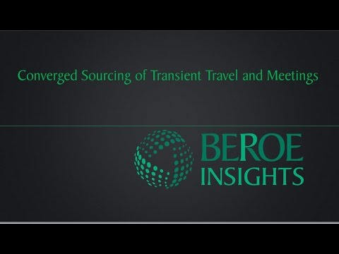 Converging Transient and Meetings Travel Sourcing