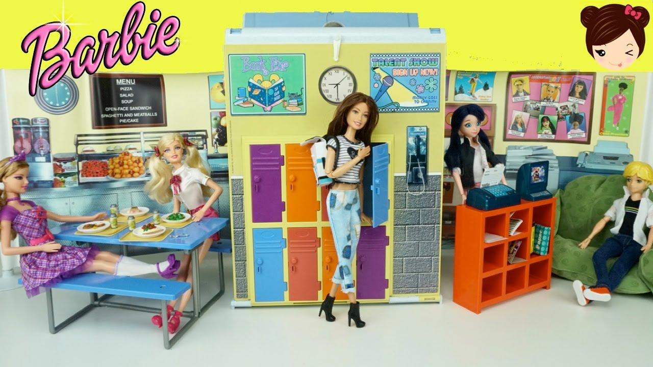 Barbie Juguetes Escuela Internacional Con Cafeteria