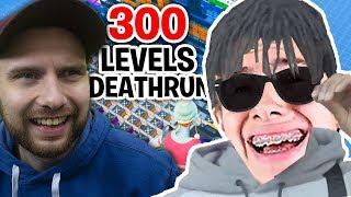 ON FAIT LA COURSE SUR UN DEATRHUN 300 NIVEAUX FT MICHOU LA D !! Fortnite Créative Mode