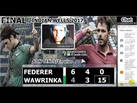 Roger Federer vs Stan Wawrinka /Final Indian Wells 2017 /Relato