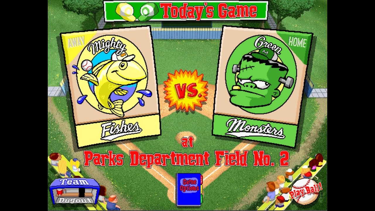 Letu0027s Play Backyard Baseball 1997 Season Game 7 Mighty Fishes Vs Green  Monsters