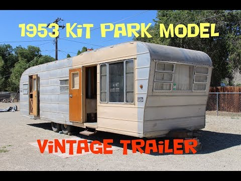 1953 Kit 30ft Park Model Vintage Trailer Walk Through Tour