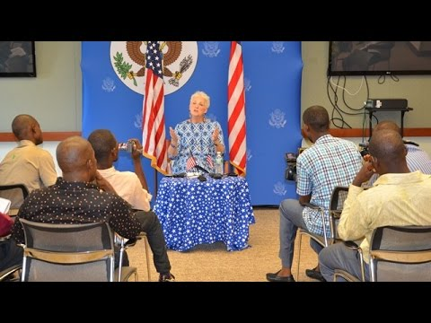 Ambassador Malac's Final Press Roundtable in Liberia