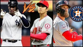 Shohei Ohtani ROBBED Miguel Andujar? 2018 MLB Rookie of the Year Highlights! Bryce Harper ASTROS?
