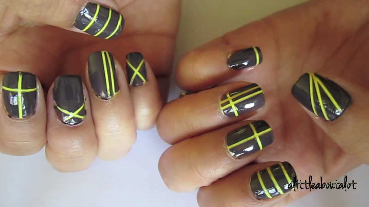 Nail Tutorial: Foil Tape Designs - YouTube