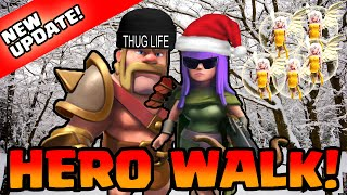 Clash of Clans [NEW UPDATE! HOW TO HERO WALK! QUEEN/KING WALK FUNNY LOOT RAID COMPILATION!