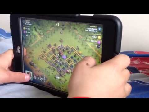 Ipad Mini: Clash of Clans! war, live attack and replays!