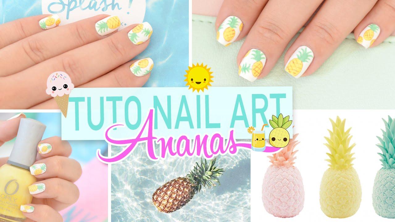 Nail Art Ananas Summer Nails