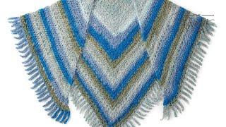 Crochet Make A Point Shawl Pattern