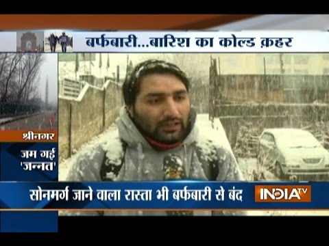 Rains in Delhi, Snowfall in Kashmir